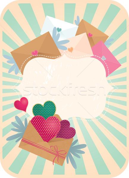 Wakacje karty walentynki pływające walentynki papieru Zdjęcia stock © UrchenkoJulia