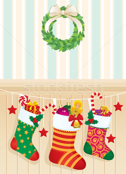 Christmas socks with gifts Stock photo © UrchenkoJulia