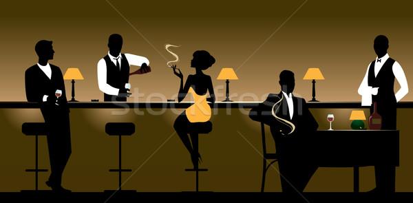 Klub nocny restauracji mężczyzn kobiet noc bar Zdjęcia stock © UrchenkoJulia