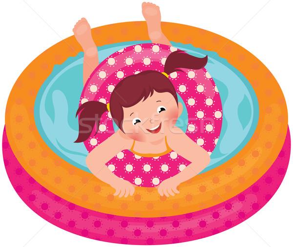 девочку лет надувной бассейна складе Сток-фото © UrchenkoJulia