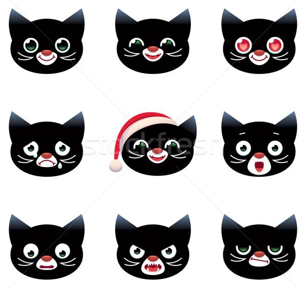 Cartoon vector smilies cats Stock photo © UrchenkoJulia