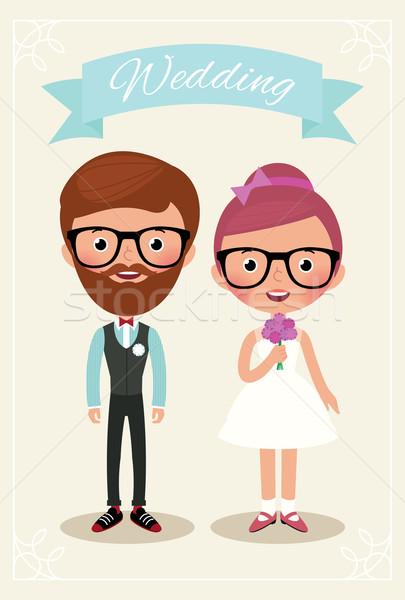 Oblubienicy pan młody biodrówki nowożeńcy suknia ślubna moda Zdjęcia stock © UrchenkoJulia