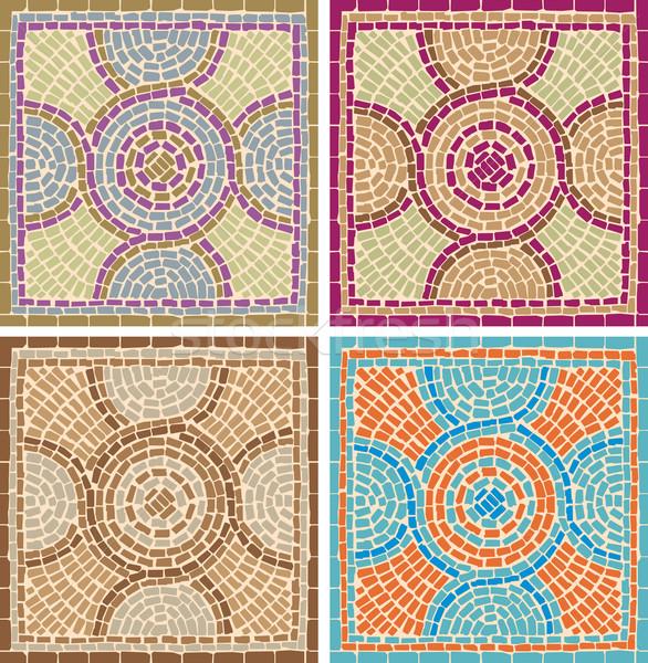 antique mosaics Stock photo © UrchenkoJulia