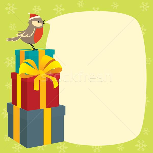 Wensen vrolijk christmas geschenken Stockfoto © UrchenkoJulia