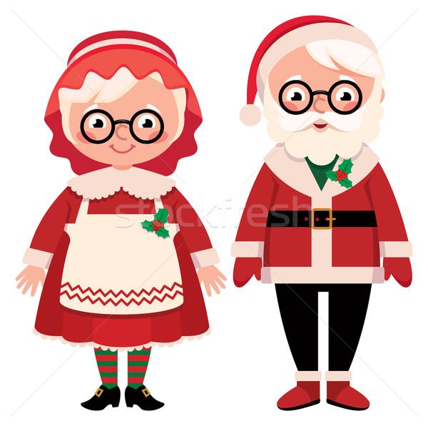 Дед Мороз пару изолированный белый любви Сток-фото © UrchenkoJulia