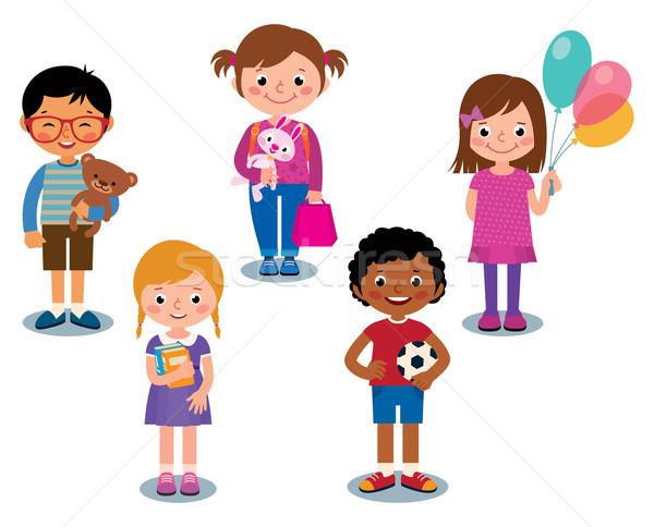 幸せ 子供 おもちゃ 漫画 グループ ストックフォト © UrchenkoJulia