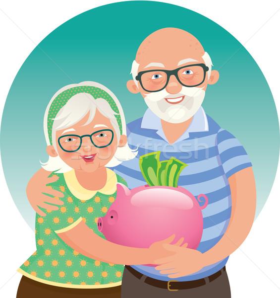 Anziani Coppia pensione stock illustrazione Foto d'archivio © UrchenkoJulia