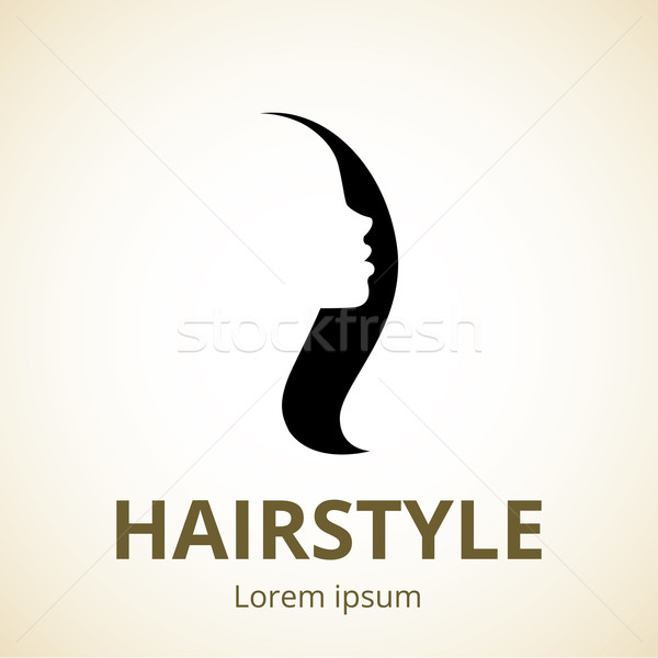 Vector logo for beauty salons and barber shops Stock photo © UrchenkoJulia