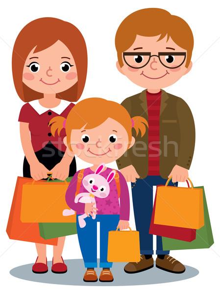 Szczęśliwą rodzinę rodziców dziecko odizolowany biały Zdjęcia stock © UrchenkoJulia