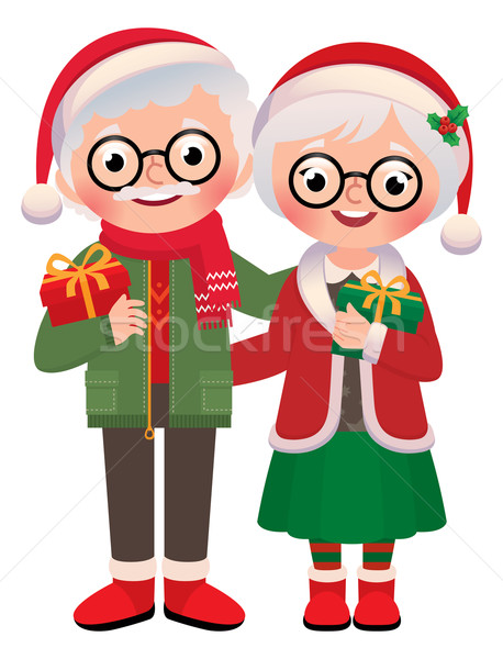 Senior married couple with Christmas gifts Stock photo © UrchenkoJulia