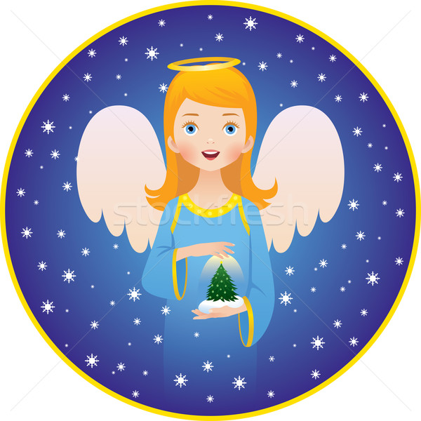 Anioł christmas wakacje Zdjęcia stock © UrchenkoJulia