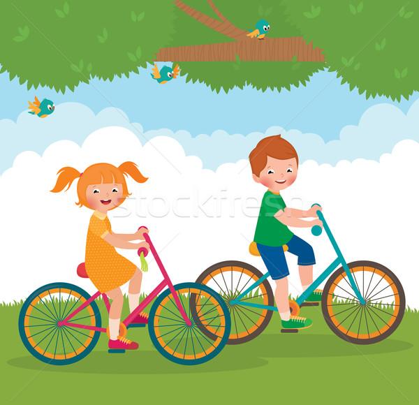 子供 自転車 在庫 漫画 実例 2 ストックフォト © UrchenkoJulia