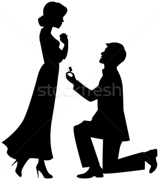 Małżeństwa wniosek w górę kolano człowiek kobieta Zdjęcia stock © UrchenkoJulia