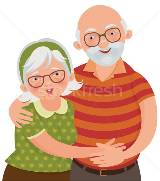 Feliz viejos amoroso ancianos Pareja Foto stock © UrchenkoJulia