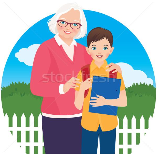 Wnuk uczeń ilustracja kobiet dziecko Zdjęcia stock © UrchenkoJulia