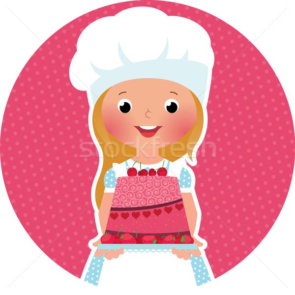 少女 ケーキ パン 在庫 食品 ストックフォト © UrchenkoJulia