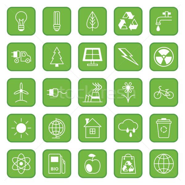 Establecer iconos ecología medio ambiente veinte cinco Foto stock © UrchenkoJulia