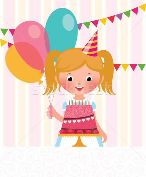 Urodziny dziewczyna czas strony twarz Zdjęcia stock © UrchenkoJulia