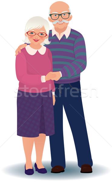 Yaşlı çift sevmek seven Stok fotoğraf © UrchenkoJulia