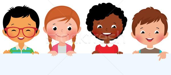 Dzieci banner czas cute dziewczyna Zdjęcia stock © UrchenkoJulia