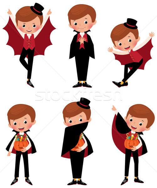 Conjunto halloween vampiro estoque ilustração Foto stock © UrchenkoJulia