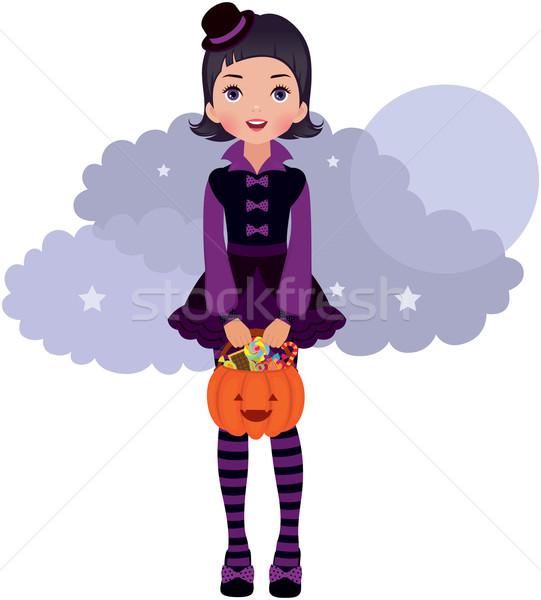 Gothic halloween dziewczyna Zdjęcia stock © UrchenkoJulia