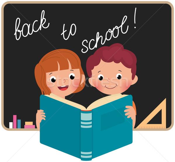 子供 学校 読む 図書 少年 ストックフォト © UrchenkoJulia