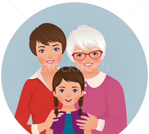 Babcia matka córka czas ilustracja trzy Zdjęcia stock © UrchenkoJulia