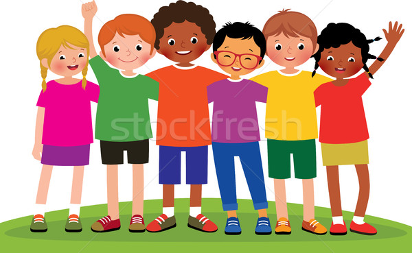 Stock vecteur cartoon illustration groupe enfants Photo stock © UrchenkoJulia