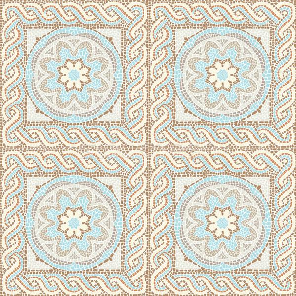 Seamless texture multicolored mosaics Stock photo © UrchenkoJulia