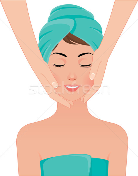 Fille visage massage spa salon stock Photo stock © UrchenkoJulia