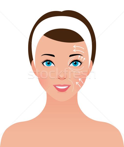 портрет красивая девушка лице пластическая хирургия складе красоту Сток-фото © UrchenkoJulia