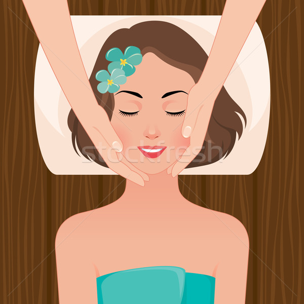 Mujer masaje spa salón stock mujer hermosa Foto stock © UrchenkoJulia