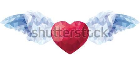 Wektora serca stylu niski walentynki Zdjęcia stock © UrchenkoJulia