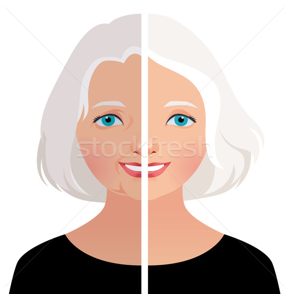 Mature woman before and after cosmetic operation Stock photo © UrchenkoJulia