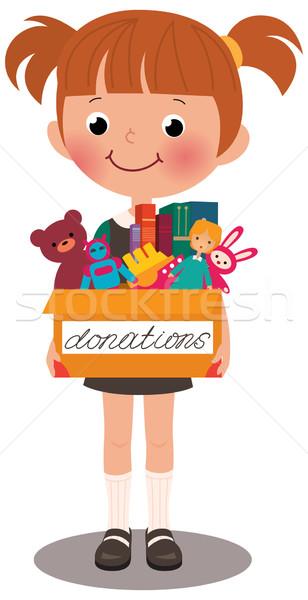 Meisje vak donaties vol groei Stockfoto © UrchenkoJulia