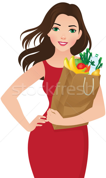 Healthy eating secret of beauty Stock photo © UrchenkoJulia