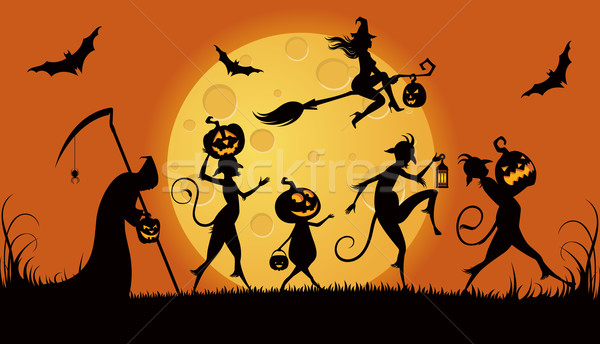Party monsters for Halloween Stock photo © UrchenkoJulia