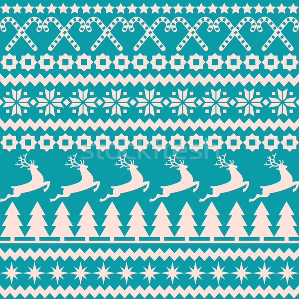 Christmas seamless pattern in the nordic style Stock photo © UrchenkoJulia