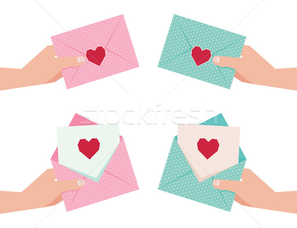 Stock vector illustration of a hand giving an envelope with Vale Stock photo © UrchenkoJulia