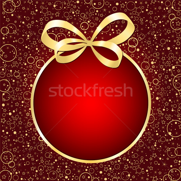 Christmas red card Stock photo © user_10003441