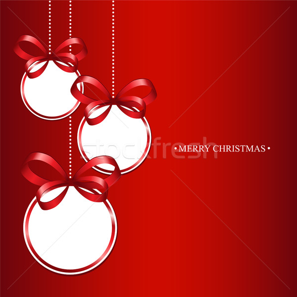 Christmas balls on a red background Stock photo © user_10003441