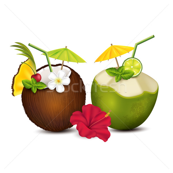 Two tropical cocktails Stock photo © user_10003441
