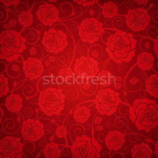 Floral padrão belo sem costura flores rosa Foto stock © user_10003441