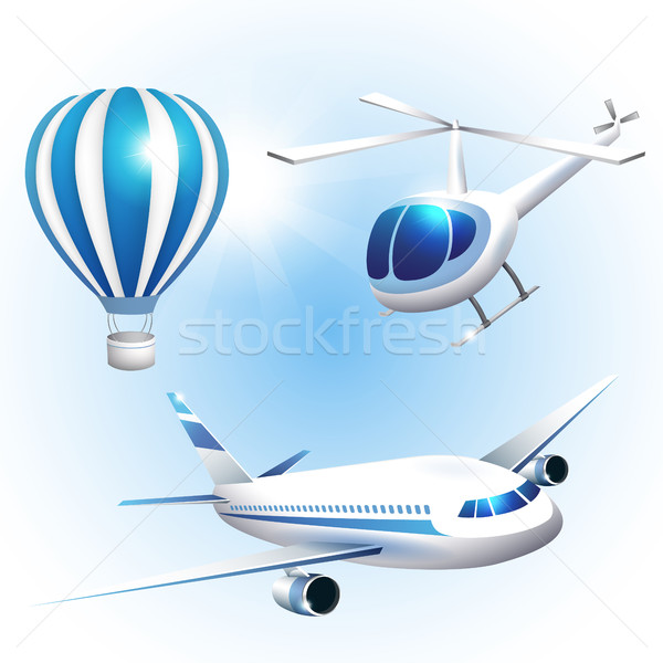 Set of icons transport Stock photo © user_10003441