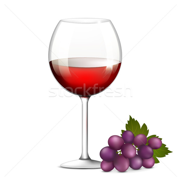 Glass of red wine Stock photo © user_10003441