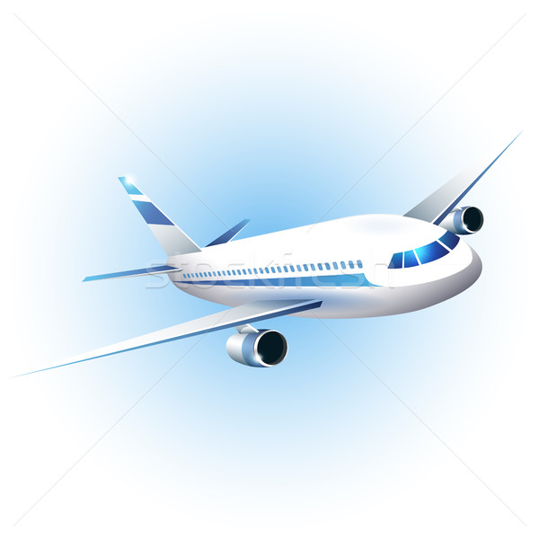 Iillustration of the airplane Stock photo © user_10003441