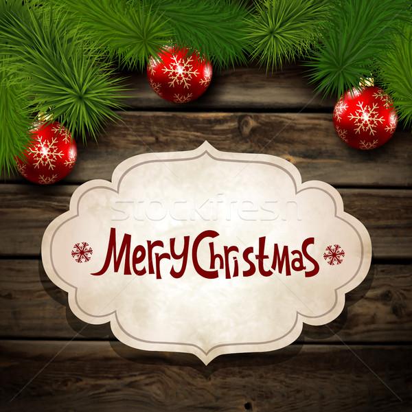 Christmas greeting Stock photo © user_10003441