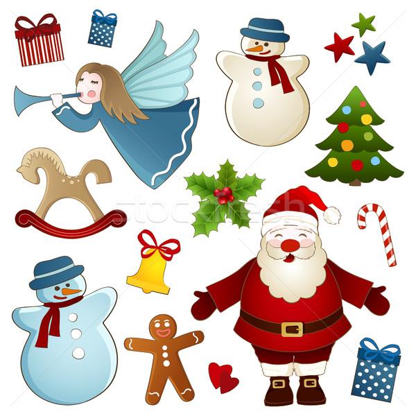 クリスマス 孤立した 要素 ベクトル コレクション 白 ストックフォト © user_10003441