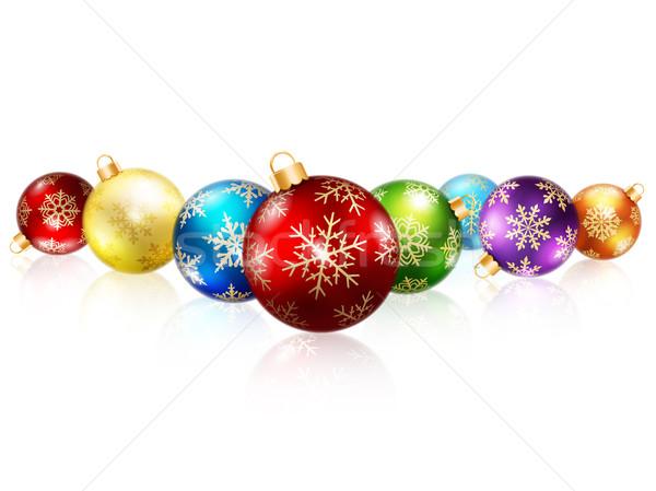 Isolated christmas balls Stock photo © user_10003441